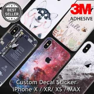 iPhone X / XR / XS / MAX Custom Decal Skin Sticker DIY