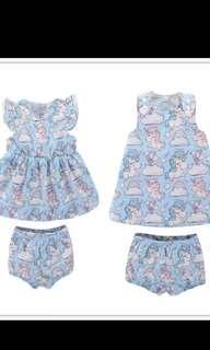 PO unicorn set Wear for babies from 0-24months