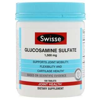 🚚 Swisse Glucosamine Sulfate 1500 mg 180 Tablets
