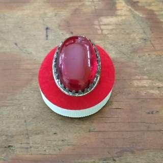 Cincin batu natural RED baron pacitan
