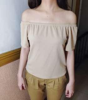 Light Brown Off Shoulder