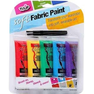 BNIP: Tulip Soft Fabric Paint, 5-Pack