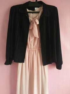 Dress+outer casual / kerja