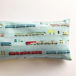 🌈 Bean Sprout Husk Pillow / Beanie Pillow , Fabric from Japan ( 100% Handmade 100% Cotton , Premium Quality!) size 15 x 40cm Shinkansen Trains