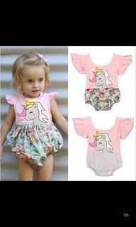 PO babies unicorn romper set brand new size 0-24months