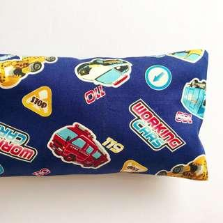🌈 Bean Sprout Husk Pillow / Beanie Pillow , Fabric from Japan ( 100% Handmade 100% Cotton , Premium Quality!) size 15 x 40cm Cars 🚘