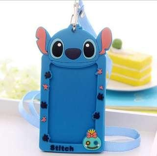 Cartoon Bus Card Ez Link Silicone Lanyard Card Holder