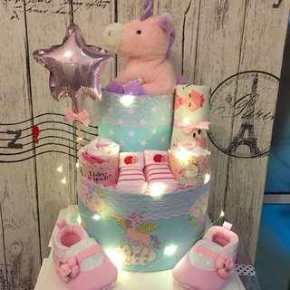 Ready stock! 2-tier Baby Diaper Cake