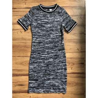 H&M jersey bodycon dress