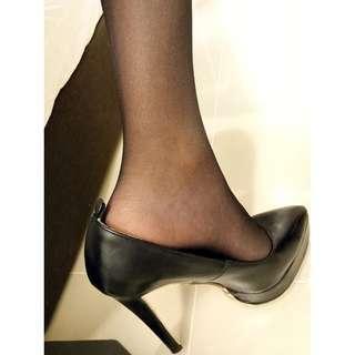黑色超高跟OL鞋