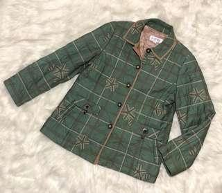 Green Quilted Embroidered Jacket