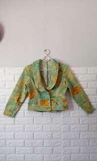 C' Enna By Chloé Cropped Printed Blazer Jacket