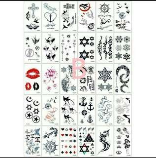 🚚 B組30張不重覆防水轉印煞氣流行刺青紋身貼紙