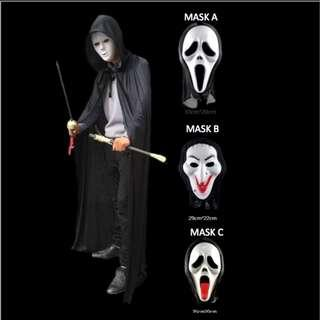 Halloween Cape and Mask Set