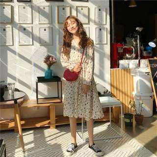 [PO] Floral Vintage Midi Dress
