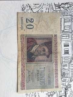 Belgium 🇧🇪 banknote
