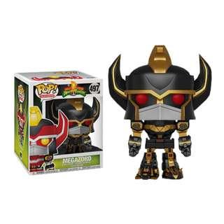 "115949b1343 Funko Pop - Power Rangers - Megazord 6"" Super Sized Black   Gold"