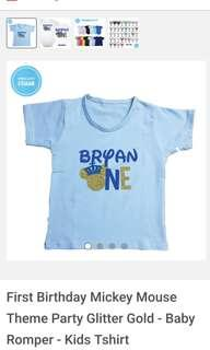 Customised K01 & K02 Kids Tee with name / print or any text design customisation