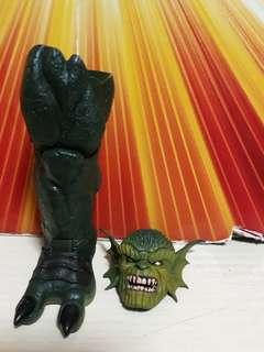 Marvel legends Abomination head and Right leg part