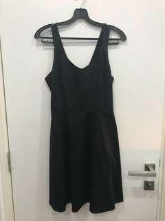 🚚 Zalora Black Crossback Dress