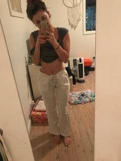 Roxy white beach pants