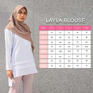🚚 LAYLA BLOUSE top peplum dress baju muslimah instant