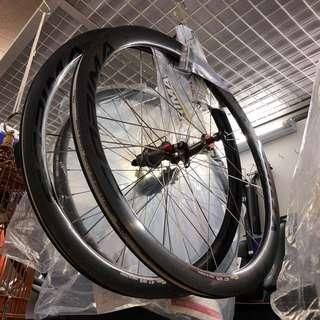 New: Corima 47mm WS clincher Carbon wheelset