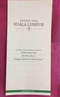 RM500 Dining Voucher @ Vertigo Banyan Tree KL