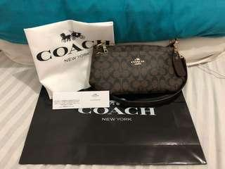 COACH SLINGBAG COFFEE