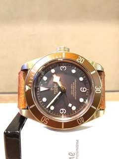 "Brand New Tudor Black Bay Heritage ""Bronzo""79250BM Brown Dial Automatic Bronze Casing Leather"