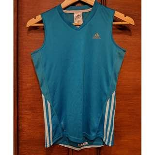 ADIDAS Blue Climacool Sleeveless Top