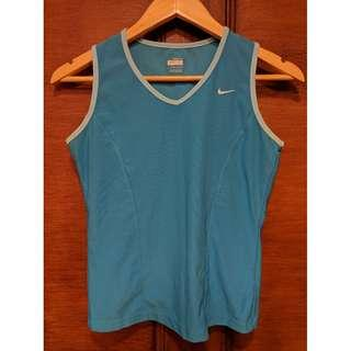 NIKE Dry Fit Blue Sleeveless Top