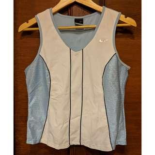 NIKE Sphere Dry Blue and White Sleeveless Top