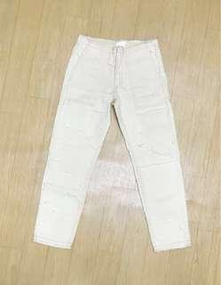 H&M new khaki pants jeans trousers 褲 米 卡其色 碎布 全新 100% New never wear