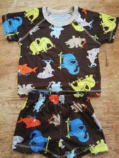 Terno shorts and shirt ₱80 12-18mos