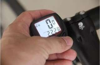 LCD bicycle back light speedometer