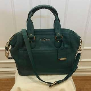 Cole Haan green leather bag with strap