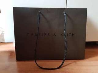 Paper Bag CHARLES AND & KEITH Original Asli Dust Bag Gift Handbag