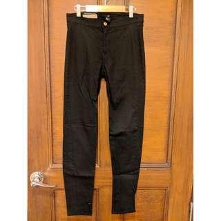 H&M Black Super Slim Denim Pants