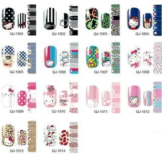 Cute Characters nail stickers