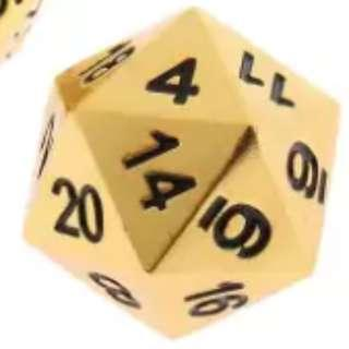 🚚 Gold and Silver Zinc Alloy D20 Dice (PRE-ORDER)