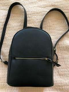 Faux Leather Small Backpack