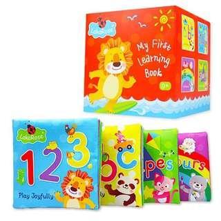 🚚 ✈️預購價✈️6-12月寶寶的布書 🔆大布書🔆響紙布書 好玩好看的布書