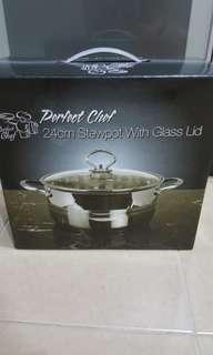 [New]Perfect Chef 24cm stewpot with glass lid