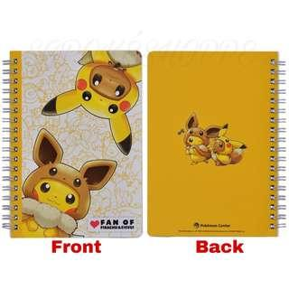 [PO] B6 RING NOTEBOOK [FANS OF PIKACHU & EEVEE] - POKEMON CENTER EXCLUSIVE