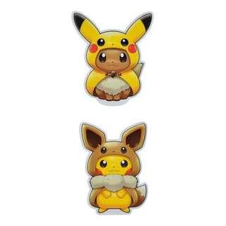 [PO] STICKERS SET [FANS OF PIKACHU & EEVEE] - POKEMON CENTER EXCLUSIVE