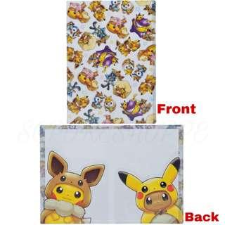 [PO] A4 DOUBLE-POCKET CLEAR FILE [FANS OF PIKACHU & EEVEE] - POKEMON CENTER EXCLUSIVE