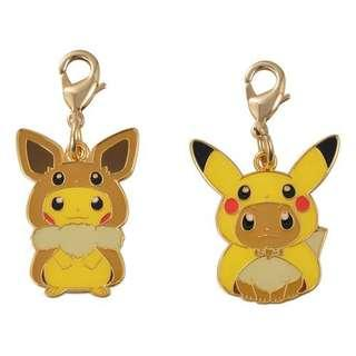 [PO] METAL CHARMS SET [FANS OF PIKACHU & EEVEE] - POKEMON CENTER EXCLUSIVE