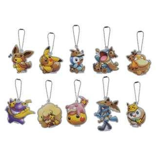[PO] ACRYLIC CHARM COLLECTION **RANDOM** [FANS OF PIKACHU & EEVEE] - POKEMON CENTER EXCLUSIVE