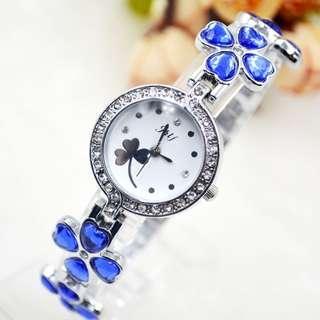 全新 時尚 女裝 手腕錶 石英手錶 粉紅色/藍色